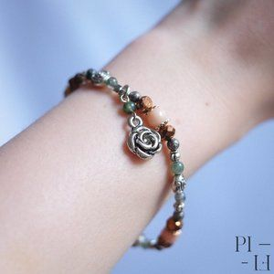 2/60$ bracelet natural pink aventurine agate